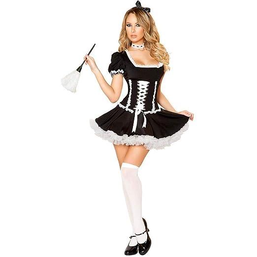 WWAVE Juego de Traje de Halloween Cosplay Traje Maid Anime Cosplay ...
