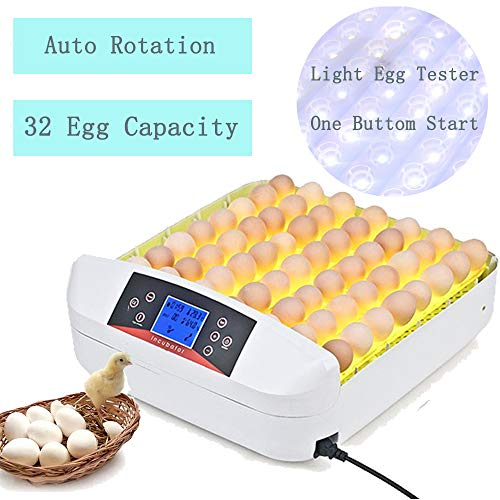 Egg Incubator Digital Automatic Poultry Hatch Egg Turning