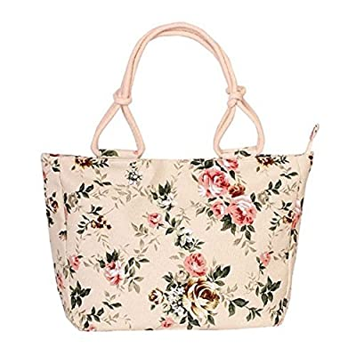 WongSinTong Lovely Canvas Purses and Handbags for Women,Large Capacity Tote Shoulder Bags with Zipper and Pockets
