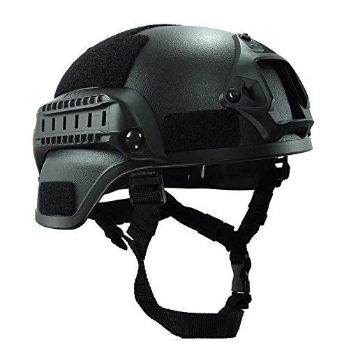 Your supermark Outdoor Simplified Action Military Tactical Combat MICH2000 Helmet Black