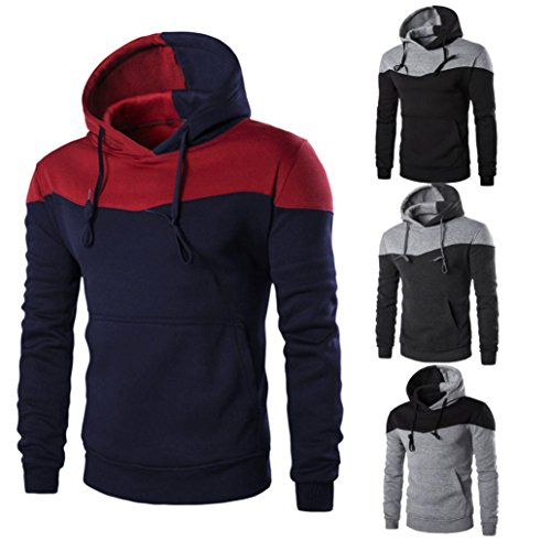 Pocket Hoodie Coats,Hemlock Men's Sweater Jackets Warm Hooded Sweatshirt Outwear