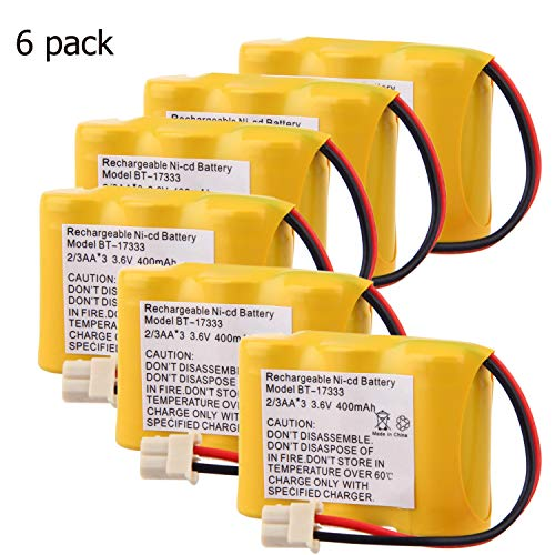 Cordless Home Telephone Battery 6PACK for Vtech BT-27333 CS5111 Replacement for Rechargeable Battery 3.6v 400mah Ni-cd 2/3 AA