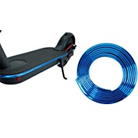 Sumeier Body Anti-Collision Strip - 6.67 Feet Plating Decorative Bumper Strip Scratch Prevention Protective Tape for Xiaomi Mijia M365 Ninebot ES1 ES2 ES3 ES4 Electric Scooter (Blue)