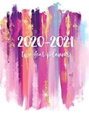 2020-2021 Two Year Planner: 24 Months Planner and Calendar | 2 Year Monthly Agenda Schedule Organizer | Business Planners with Holidays | Appointment Notebook | Password Logbook