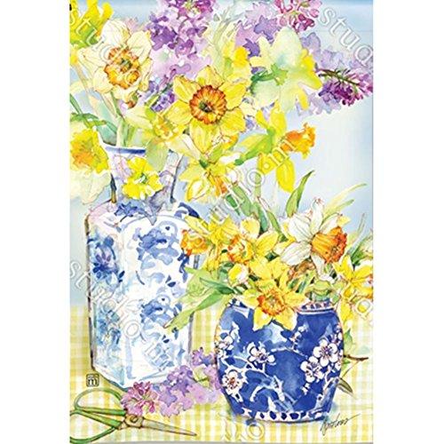 Magnet Works, Ltd. Daffodils in Vases BreezeArt Garden Flag