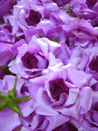 Amazon 12 big purple silk roses flower head 375 12 big purple silk roses flower head 375quot artificial flowers heads mightylinksfo