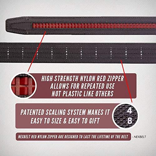 Nexbelt 2019 Titan Black Men's EDC Tactical Belt Ratchet System Technology Mens Nylon Gun Belts by Nexbelt (Image #6)