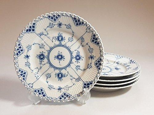 ロイヤルコペンハーゲン プレート■ブルーフルーテッド フルレース サラダプレート 皿 5枚セット 1級品 B07D6YP89V