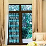 YOLIYANA Decorative Window Film,Grunge,for Bedroom Living Room Kitchen,Contemporary Art Inspiration with Dots in Cold Colors,24''x70''