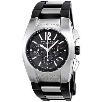 amazon com bvlgari ergon black pattern rubber mens watch bvlgari ergon black pattern rubber mens watch eg35bsvdch