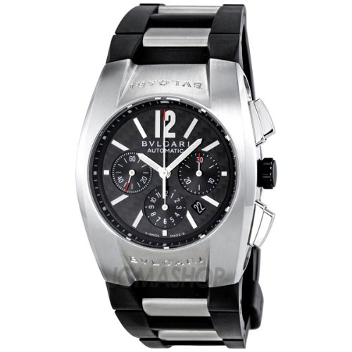 Bvlgari Ergon Black Pattern Rubber Mens Watch EG35BSVDCH