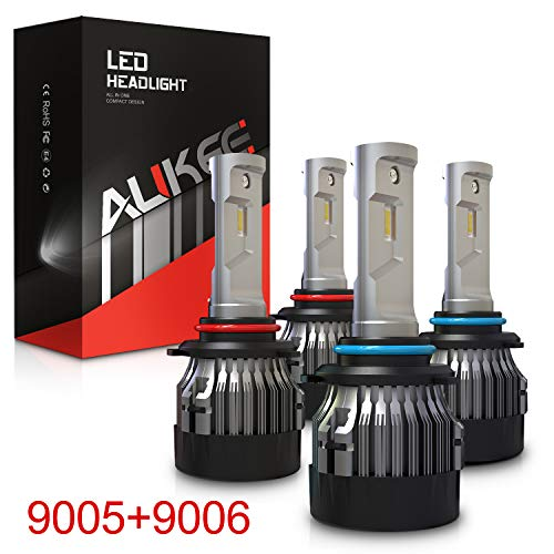 Aukee 9005 9006 Combo LED Headlight Kit, HB3 HB4 Hi Lo Beam 12000Lm 6000K 60W CREE Chips Extremely Bright All-in-One Conversion Kit