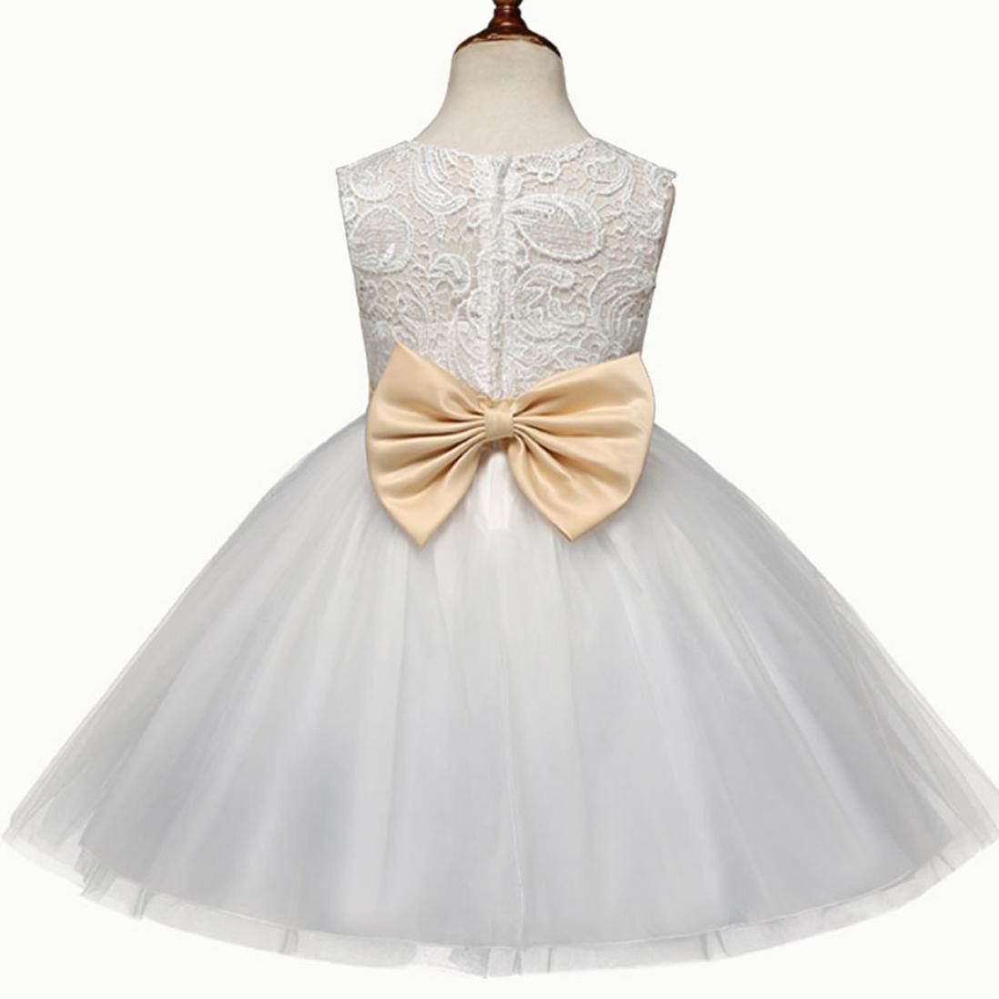 Vestido de fiesta para niñas Vestido de dama de honor de flores vestido de niña de la princesa Vestido de fiesta formal de dama de honor de boda Vestido de ...