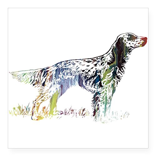 CafePress - English Setter Sticker - Square Bumper Sticker Car Decal, 3
