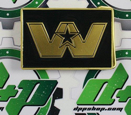 (Western Star truck 50th anniversary Belt buckle gold & black semi trucker diesel)