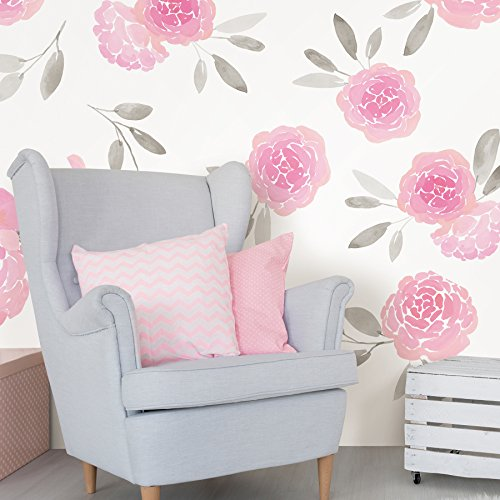 WallPops WPK2458 May Flowers Wall Art Kit Pink by Wall Pops (Image #1)