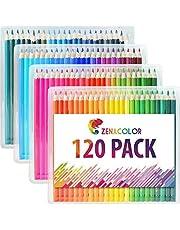 120 Lápices de Colores (Numerado) de Zenacolor - 120 Colores Únicos para Libro de Colorear para Adultos - Fácil Acceso con 4 Bandejas - Regalo Ideal para Artistas, Adultos y Niños