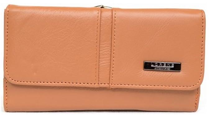 Lorenz - Cartera para mujer de Piel mujer marrón canela: Amazon.es: Zapatos y complementos