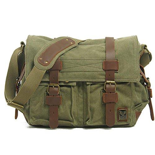 Plover Bolso al hombro para Hombre Mujer Lona Cross-Body Bolsas Bolsas de mensajero Bolsas de viaje verde