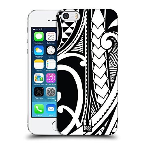 (Head Case Designs Ornate Swirl Samoan Tattoo Hard Back Case for iPhone 5 iPhone 5s iPhone SE)