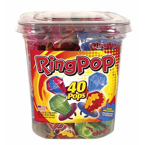 TOPPS Ring Pops Variety Pack ( 2 pack ) ( 80 total ring pops )