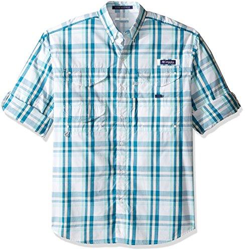 Columbia Sportswear Mens Super Bonehead Classic Long Sleeve Shirt, Deep Marine Classic Plaid, X-Large
