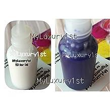 Lot of 2 Matte MP Soap Making Liquid Glycerin 15ml White TD and 15 Ml Ultramarine Blue Pigments