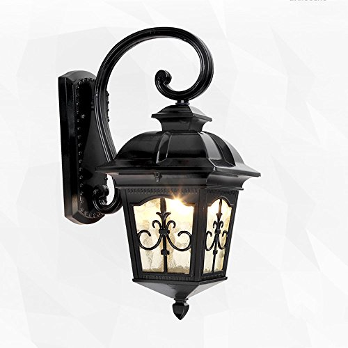 Medium European Style Door - Q-xhc Wall Lamp Outdoor Courtyard European-style Simple Door Head Balcony Outdoor Corridor Villa Garden Wall Waterproof Wall Lamp American Industrial Style Wall Lamp (Size : 40 cm high)