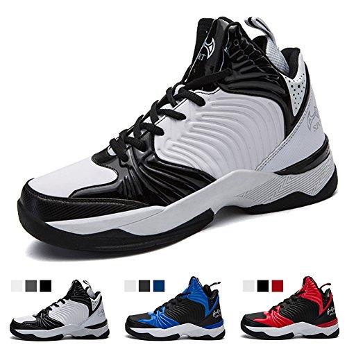 空洞悲劇的な無謀バスケットシューズ ジュニア Basketball Shoes ライトウエイト バッシュ ハイカット バスケットボールシューズ 滑り止め スポーツシューズ 耐久性のある バスケ シューズ 快適で通気性のある スポーツ ランニングシューズ メンズ スニーカー