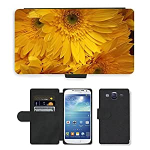 Hot Style Cell Phone Card Slot PU Leather Wallet Case // M00150647 Flower Design Floral Texture // Samsung Galaxy S3 S III SIII i9300