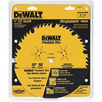 DEWALT DW7150PT 10 Inch 50 Tooth ATB Combination Saw Blade With 5/8
