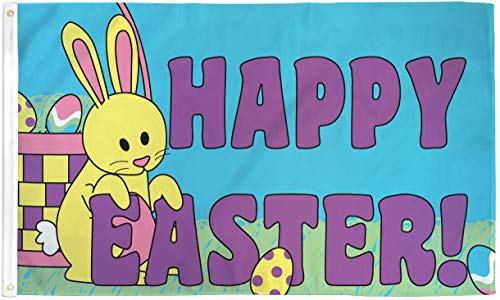 3x5 Happy Easter Flag Spring Holiday Banner Party Bunny Rabbit Pennant - Flag Easter Banner