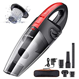Audew Handheld Vacuums Cordless, Portable Handheld Vacuum Cleaner with Powerful Suction, 120W Rechargeable Car Vacuum…