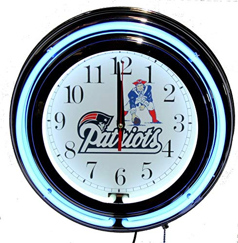 Lifestyle Lighting New England Patriots Double neon Clock