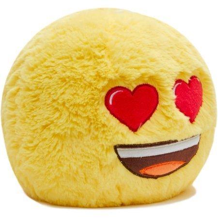 Jumbo Plush Smiley Ball Bank Heart Eyes   Emoji Jumbo Plush Smiley Ball  Heart Eyes  Coin Bank