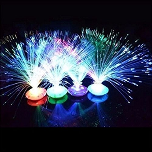New Color Changing LED Fiber Optic Night Light Lamp Stand Home Decor Colorful