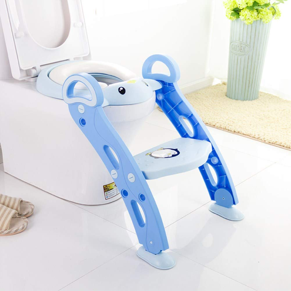DDLL Potties & Seats Foldable Baby Anti-Skid Toilet Ladder Children's Ladder Type Multi-Purpose Toilet Portable Child Seat