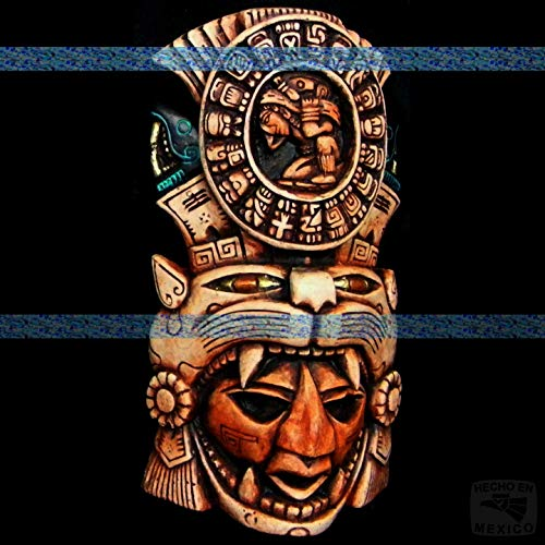 (Mayan Mask Head Maya Aztec Mexico Mexican Sculpture Pre-Columbian Mask Wall Art 081 )
