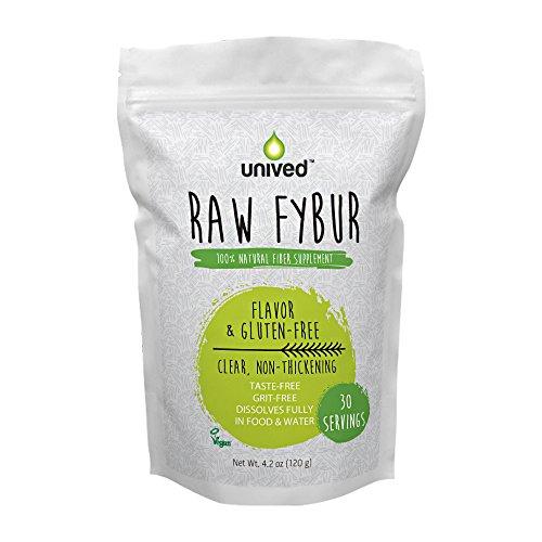 Unived Raw Fybur, Taste-Free, Sugar-Free, Fiber Supplement for Digestive Health, Natural and Vegan, 30 Servings Per Packet (Sugar Free Natural Fiber Supplements)