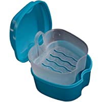 KaLaiXing brand Denture Bath - Storage Container for Soaking Dentures, Retainers & other Dental Appliances--dark green