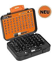 Bit Set, Tacklife 61-Teiliges tragbares Schraubendreher- Set, Mini Schraubendrehersatz mit 60 Bits und 1 Verlängerungs-Bithalter, Internationale Standardspezifikationen, inkl. Handkoffer, PSDB1A