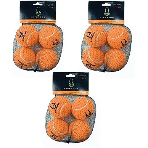 (3 Pack) Hyper Pet Orange (Mini) Tennis Balls for Dogs, 4 Balls each