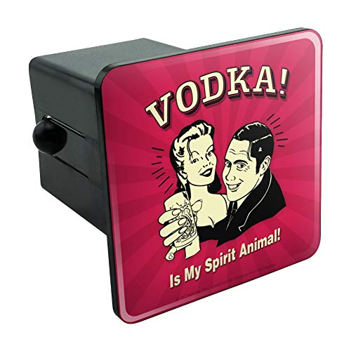 (Graphics and More Vodka is My Spirit Animal Funny Humor Tow Trailer Hitch Cover Plug Insert 2
