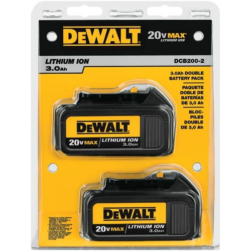 DEWALT 20V MAX Battery, Premium 3.0Ah Double Pack (DCB200-2) for sale  Delivered anywhere in USA