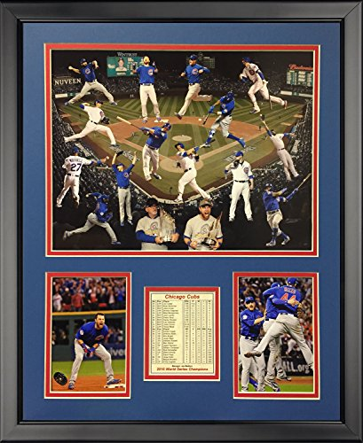 Legends Never Die 2016 MLB Chicago Cubs World Series Champions Collage Framed Photo Collage, 16