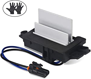 WMPHE Upgraded Design Heating and Air Conditioning Blower Motor Resistor for Buick Cadillac Chevy GMC Replaces OE# 4P1516, 4P1595, 2-BMR34, 15-80567, 53-69738,AC Blower Control Module With Gloves