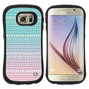 "Pulsar iFace Series Tpu silicona Carcasa Funda Case para Samsung Galaxy S6 , Nativo del trullo Rosa Folk Sutil"""