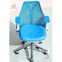 1/6 Barbie blythe Blue Swivel Chair Toy Office Chair Dollhouse Miniature Furniture