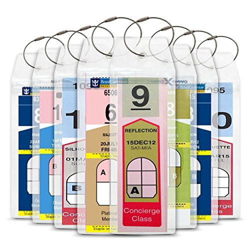 Cruise Luggage Tags Etag Holders Zip Seal and Steel Loops For Royal Caribbean Celebrity (Caribbean Ships Cruise Royal)