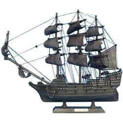 """Hampton Nautical Flying Dutchman Pirate Ship, 14"""""""